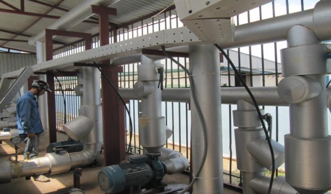 Nhà máy bò sữa TH Milk được sản xuất theo mô hình khép kín nên rất cần đến hệ thống thông gió
