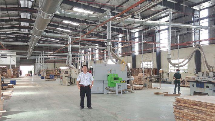Lắp đặt hệ thống hút lọc bụi công nghiệp cho xưởng gỗ