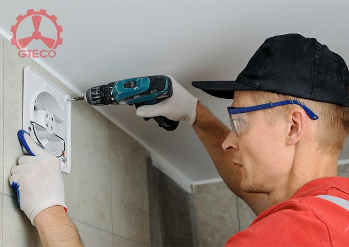 Hướng dẫn cách lắp quạt thông gió nhà vệ sinh đúng quy trình 12 bước